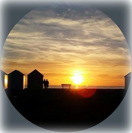 coucher de soleil sur la mer à Cayeux-sur-mer