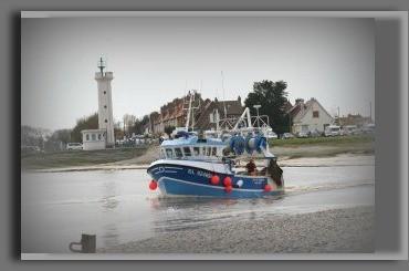 sortie d'un bateau de pêche au HOURDEL