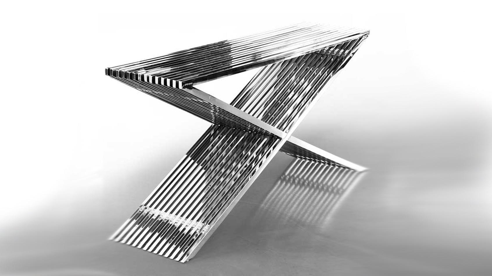 Edelstahl-Sideboard Edelstahl-Regal Highboard. Edelstahl Hocker, Tisch und Bank