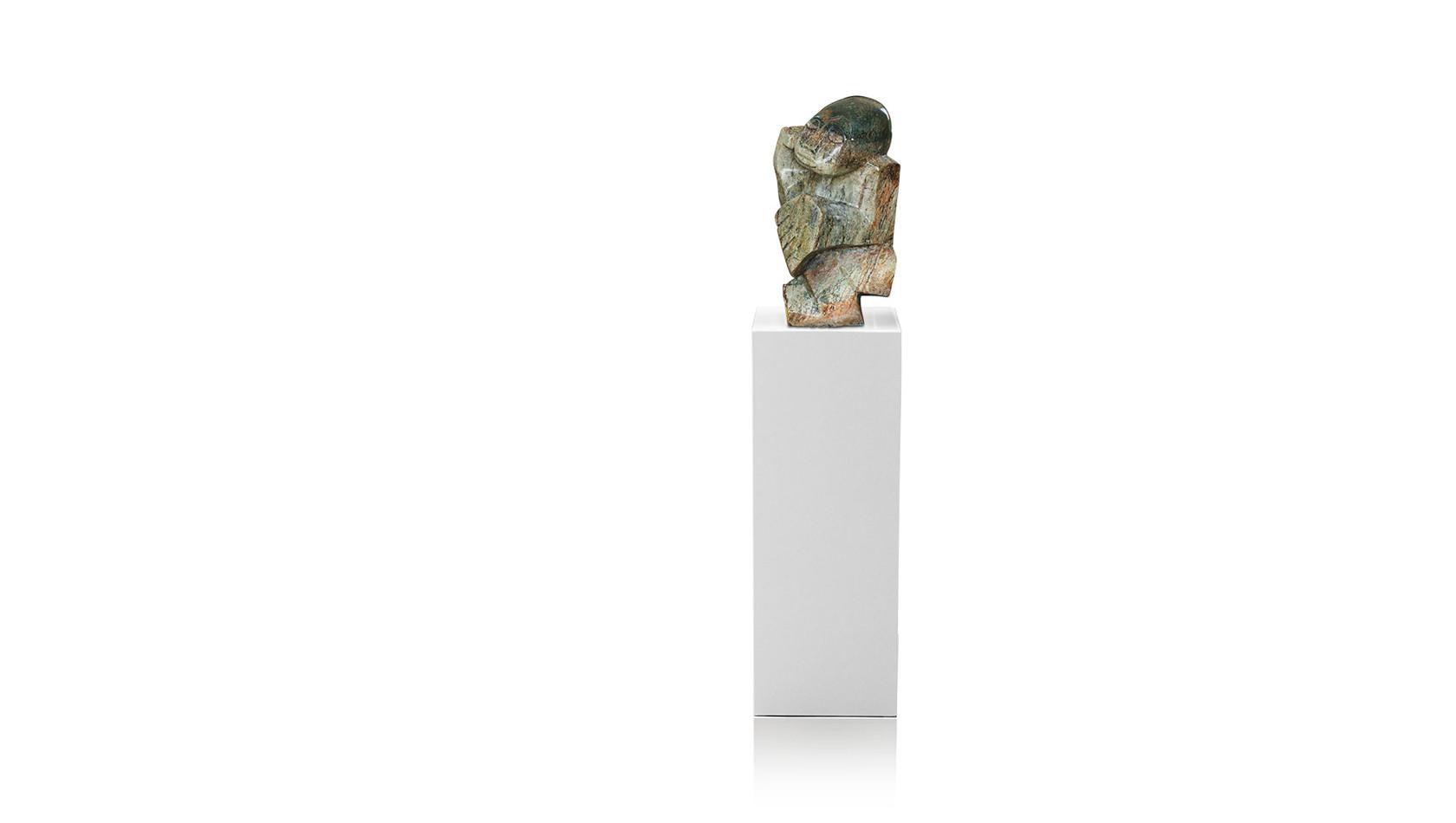 """Shona Art Stein Skulptur """"Der Dichter"""" handgefertigt aus Fruit Serpentine. Unikat."""