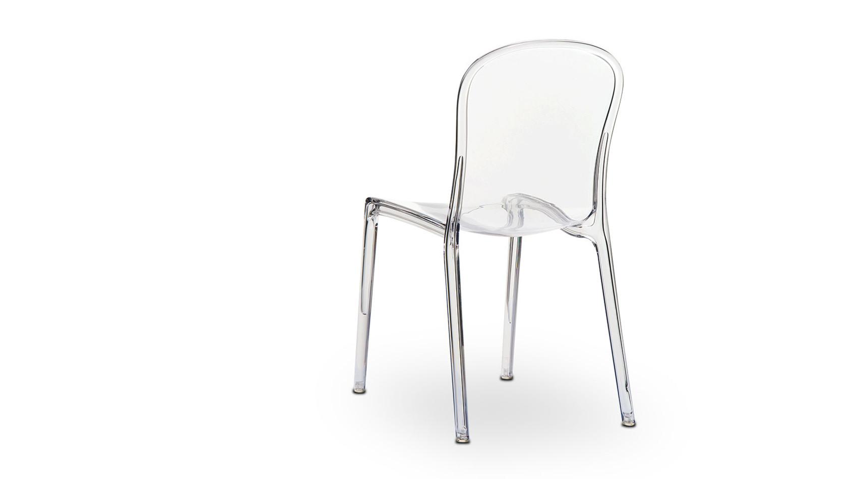 Durchsichtiger Acryl Plexiglas Victoria Ghost Stuhl in transparent Glasklar.
