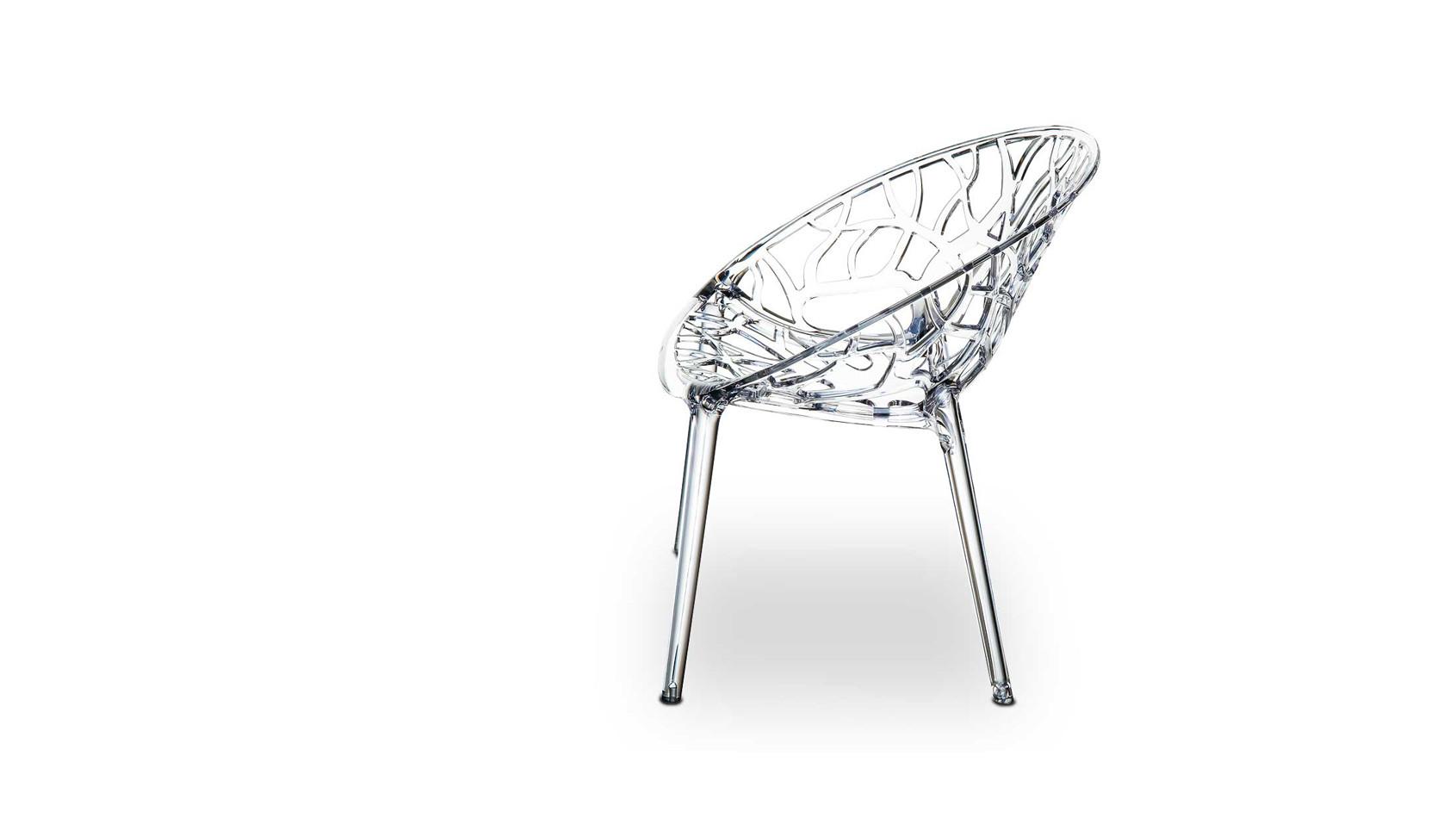 Atemberaubendes Design aus hochfestem Polyamid in transparent, der Stuhl Plexiglas NATURE...