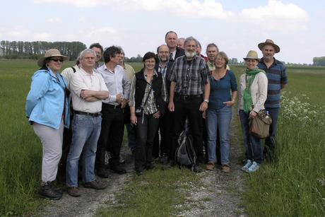 Die Grünen im Bezirk Niederbayern mit MDL Eike Hallitzky links neben Joachim Aschenbrenner