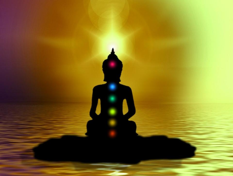 Chakra ist Sanskrit und bedeutet sich drehendes Rad. Chakras werden auch als Lotos bezeichnet.
