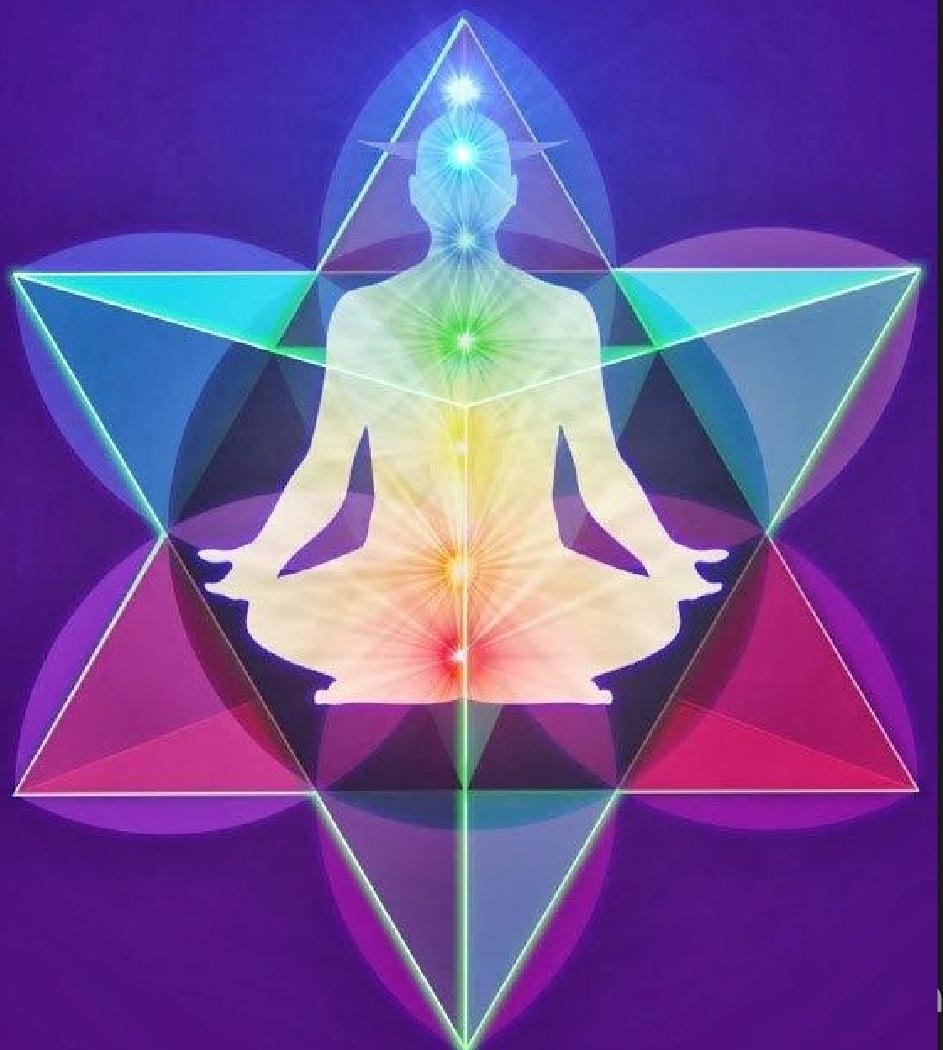 Einheit von Körper und Geist innerhalb gegeneinander rotierender pyramidaler Lichtfelder, ein Schöpfungsfeld oder auch Bewusstseitsfeld genannt.
