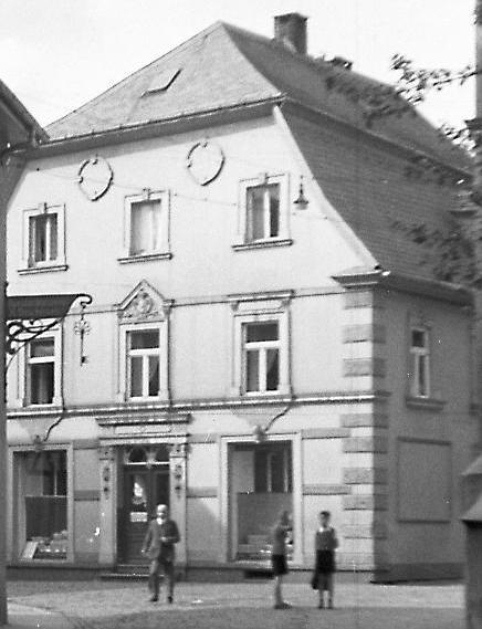 Historische Aufnahme des Gebäudes Kaufhaus Böheimer in Attendorn