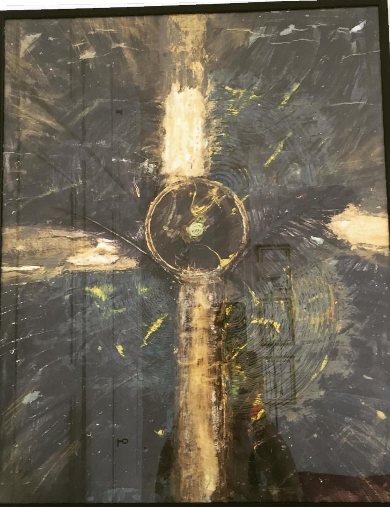 Kreuz 1, Bild 51x41cm Fr. 360.--,  Fr. 390.-- m/Rahmen