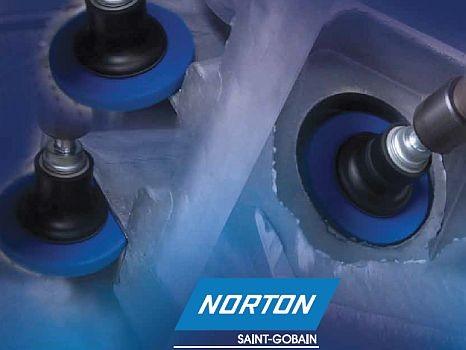 Norton Scheibe zum Entraten, Beschleifen und Finishen