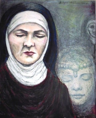 O. Titel, Acryl auf Malkarton, 50 x 60 cm. 2013