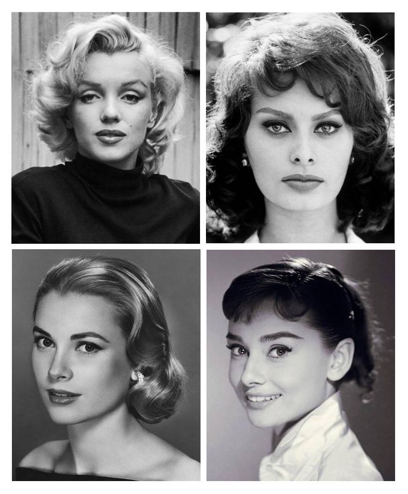 Marylin, Sophia, Grace, Audrey icone ai cui ci ispiriamo