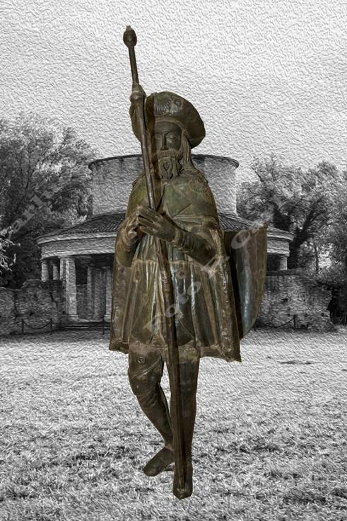 Statua di S. Rocco che sormontava la cupola del Lazzaretto - Vietata ogni riproduzione Foto F. Carlucci