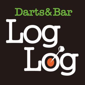 Darts&Bar Log Log (ダーツアンドバー ログログ) ロゴマーク TEL089-933-8622 〒790-0002 愛媛県松山市二番町1-6-10 Reon2番町2F