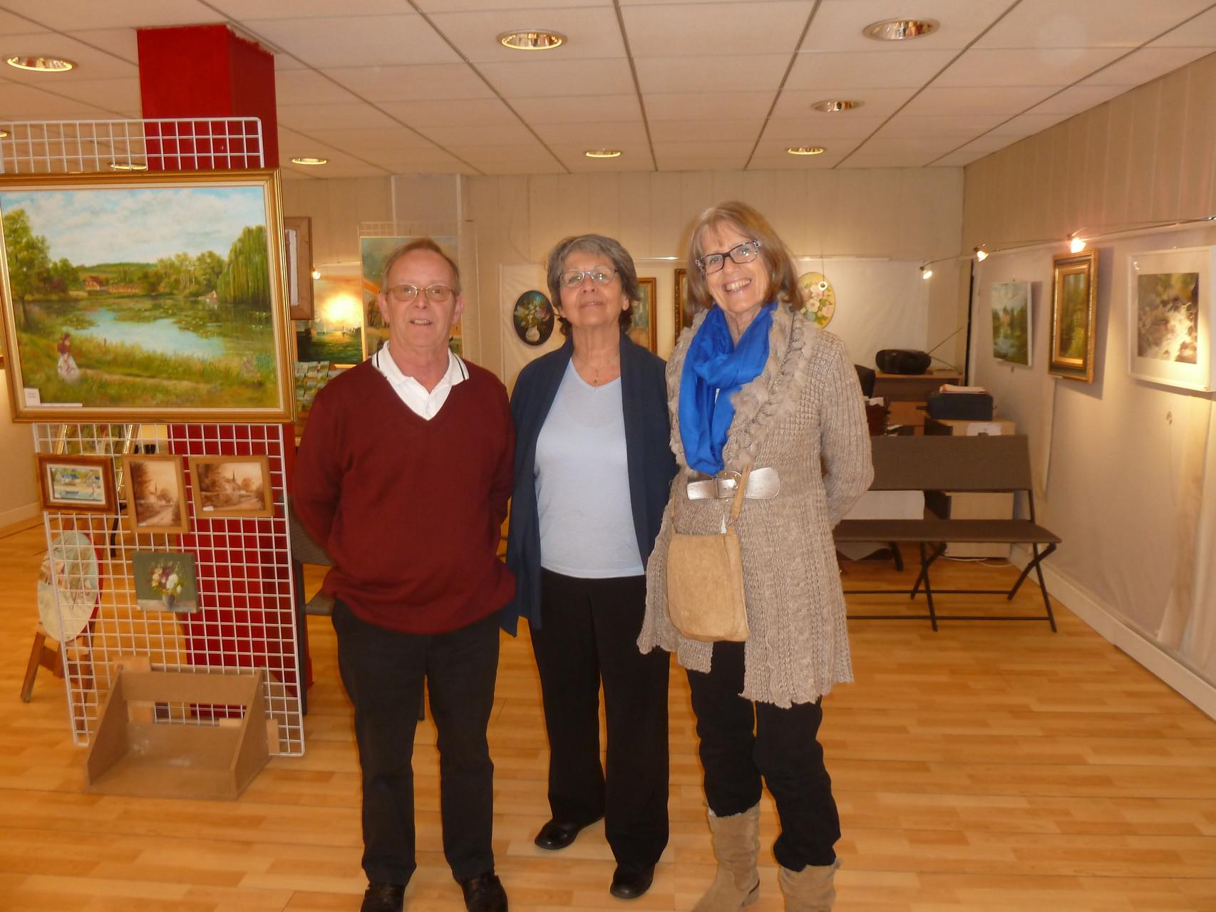"""exposition à la galerie """"au beau coin """" à Evreux , avec mes complices , Danièle Gouby et Gérard Quintric -15mars2015"""