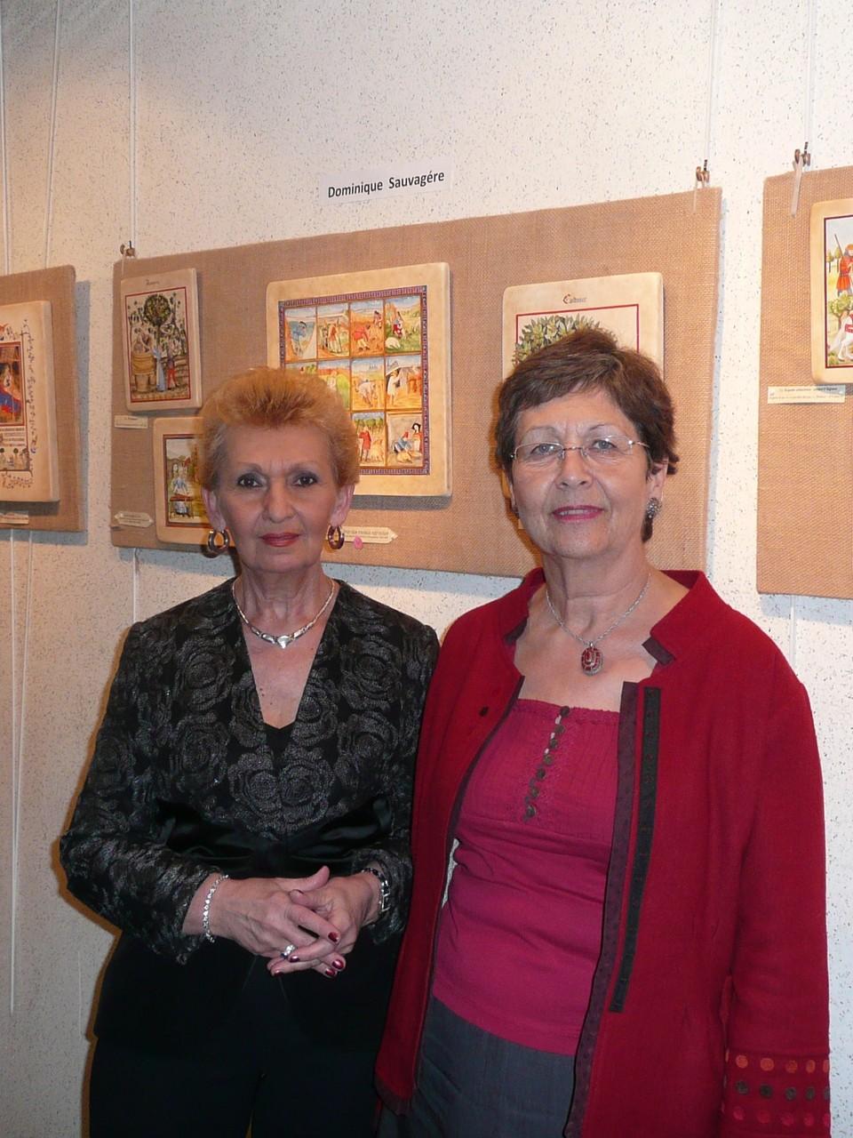 A Triel-sur Seine (78), avec Victoria Thomas (exposition d'icônes et de peinture sur bois)