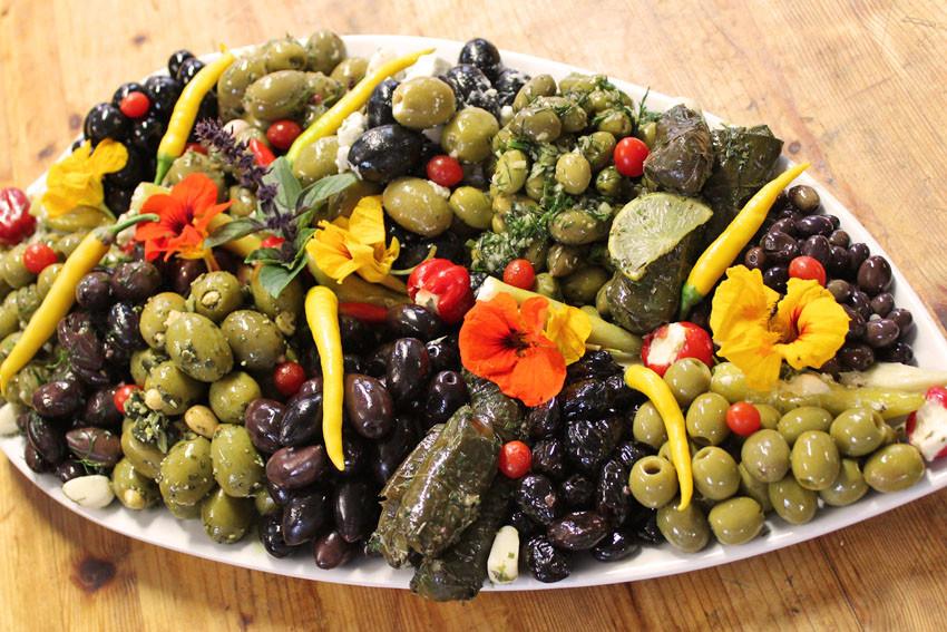 Olivenplatte