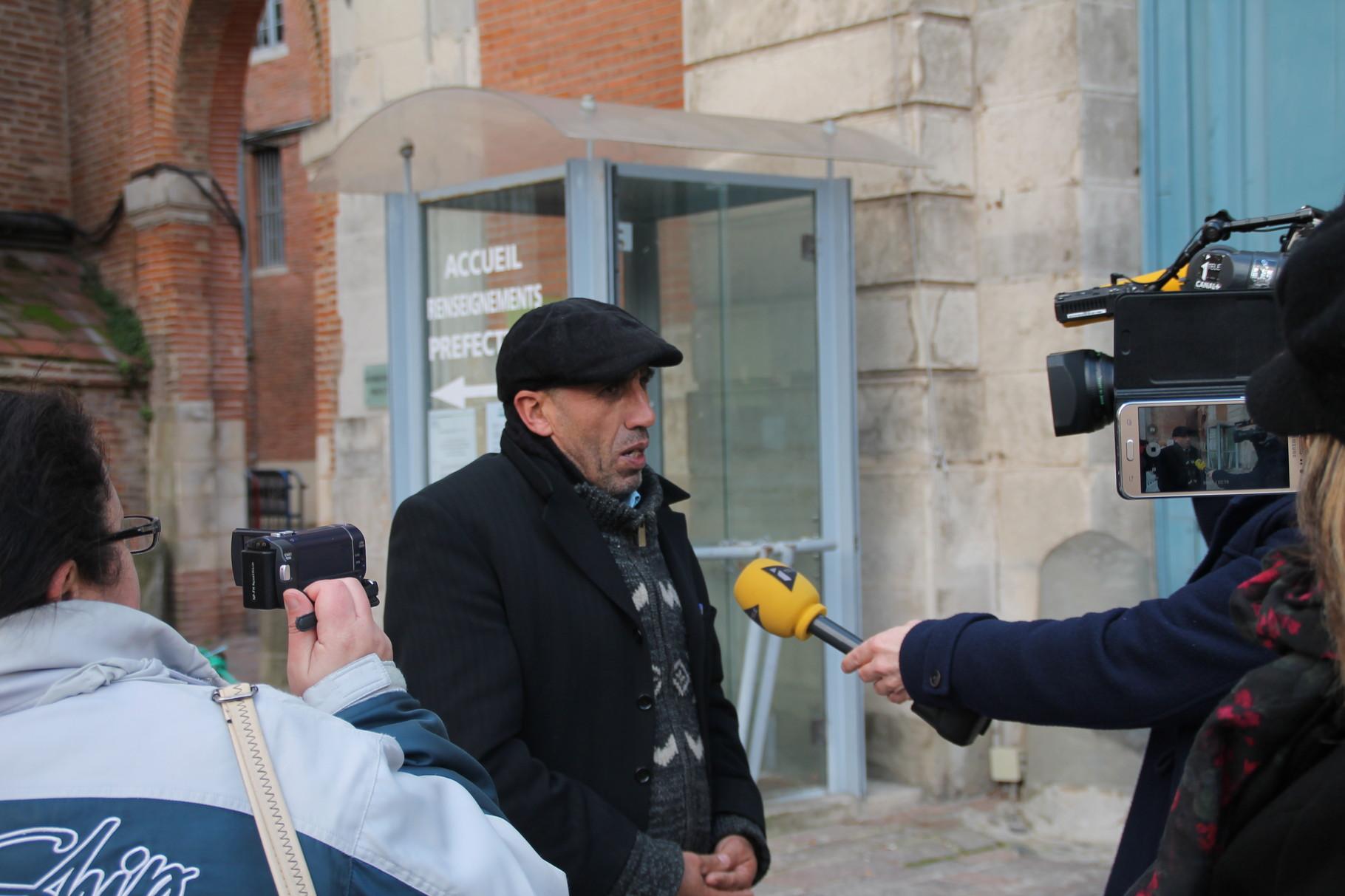Boaza GASMI interviewé par i Télé, à Toulouse, le 16 janvier 2016.