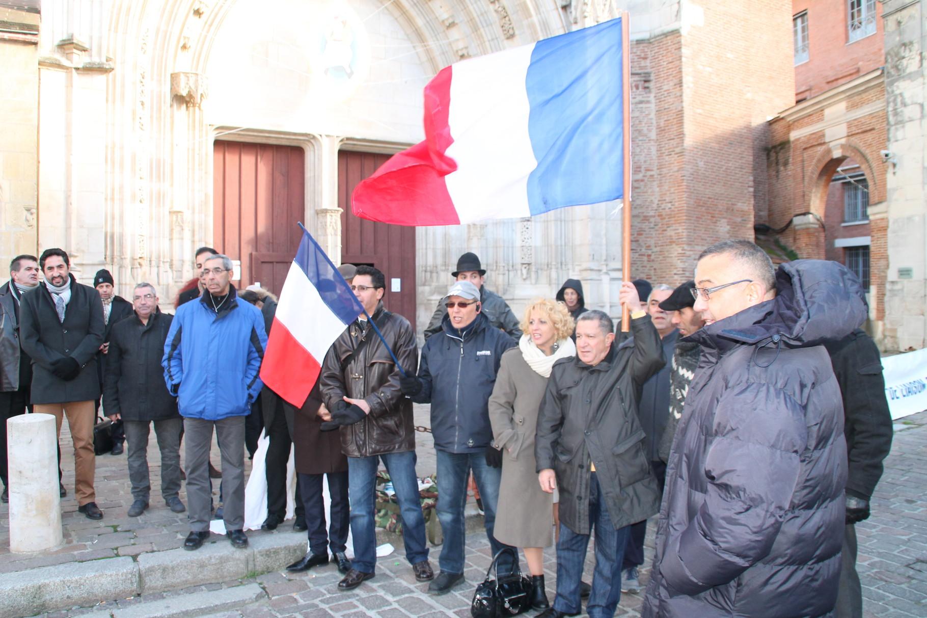 Les Présidents d'associations Harkies, à Toulouse, le 16 janvier 2016