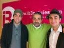 Amb l'actor Pedro Victory i el periodista Joan Carles Palos