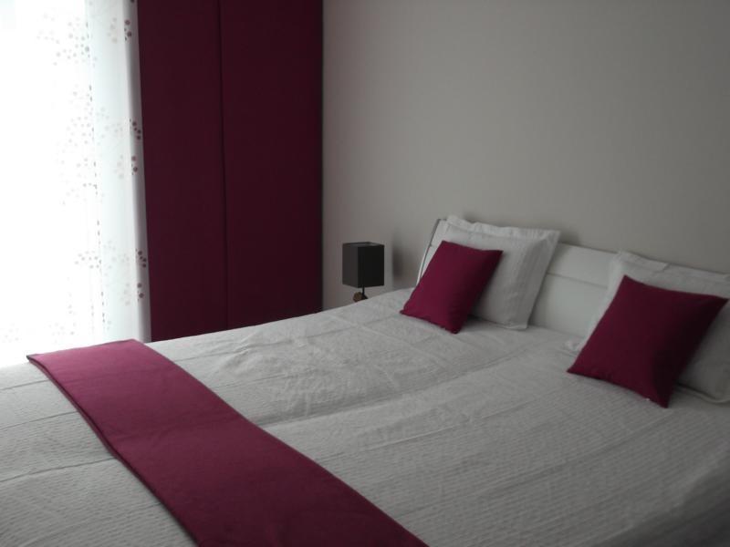 Schlafzimmer in der Ferienwohnung Arkonablick auf Rügen