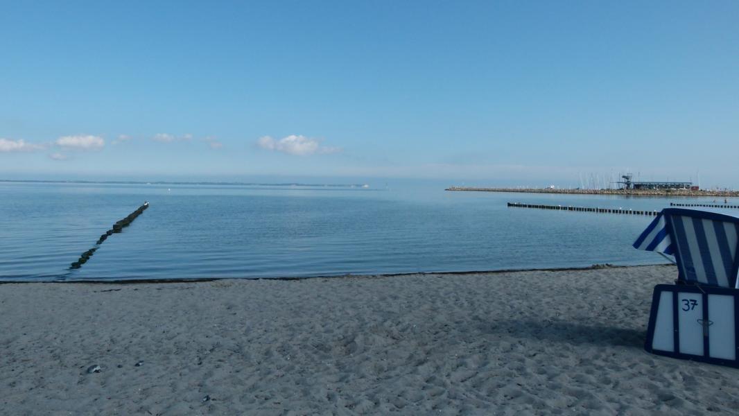 Sandstrand und Ostsee direkt vor der Tür (Entfernung nur ca. 20 m)
