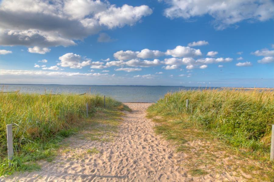 Weg zum Ostseestrand direkt vor der Tür