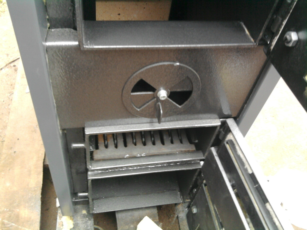 KUS-I zwymiennikiem płomieniówkowym (rozeta powietrza wtórnego)