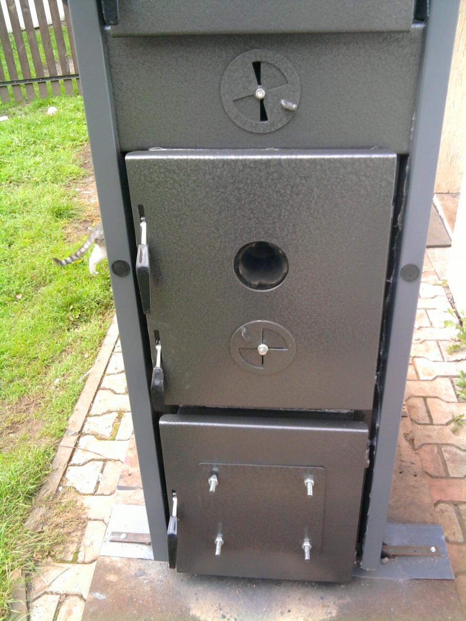 Drzwi komory spalania HG oraz palnika