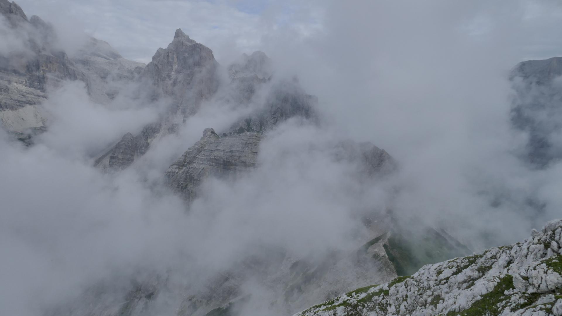 Abstiegsweg zum Passo del Clamer