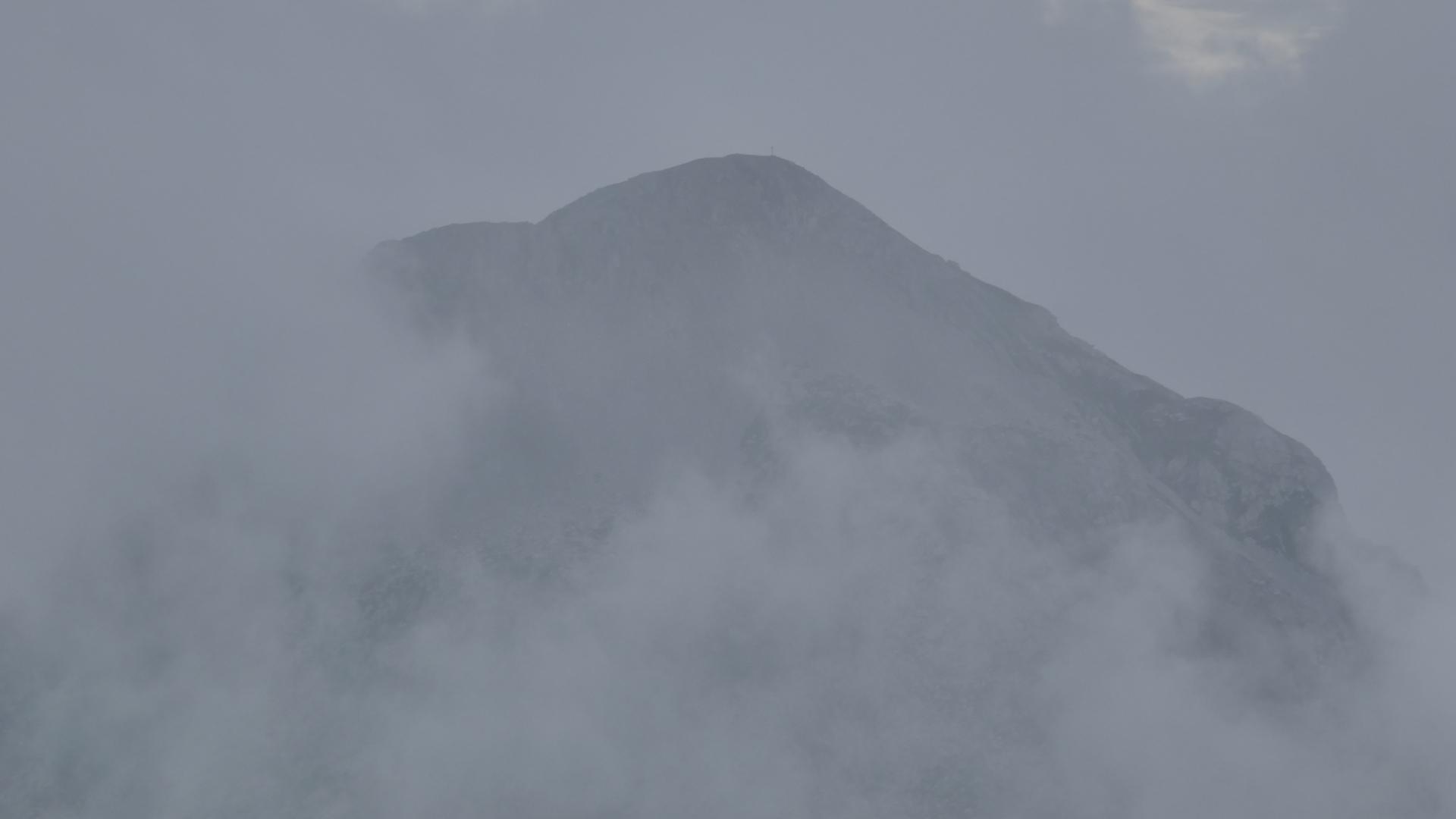 Piz Galin im Nebel