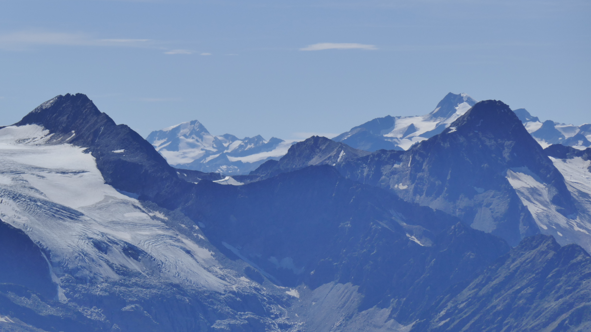 Aperer Pfaff - Weißkugel - rechts Schaufelspitze vor Wildspitze