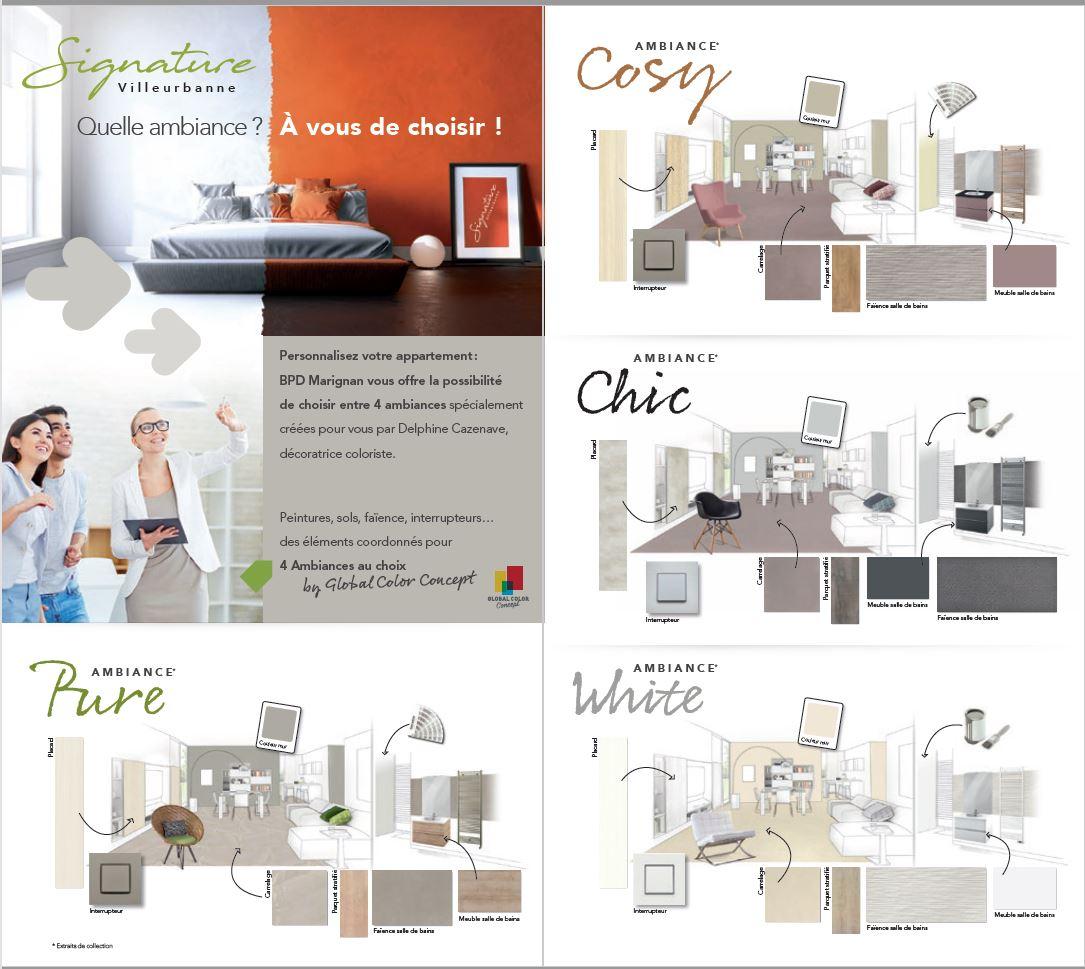 Réalisation de 4 tendances pour BPD Marignan Rhône-Alpes