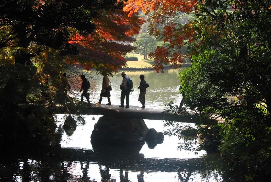 京の橋を見立てた渡月橋