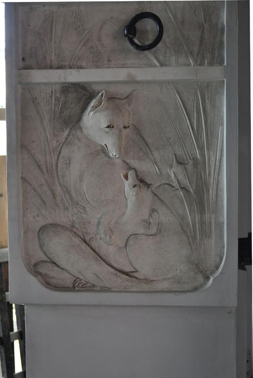 伊豆の長八の漆喰絵