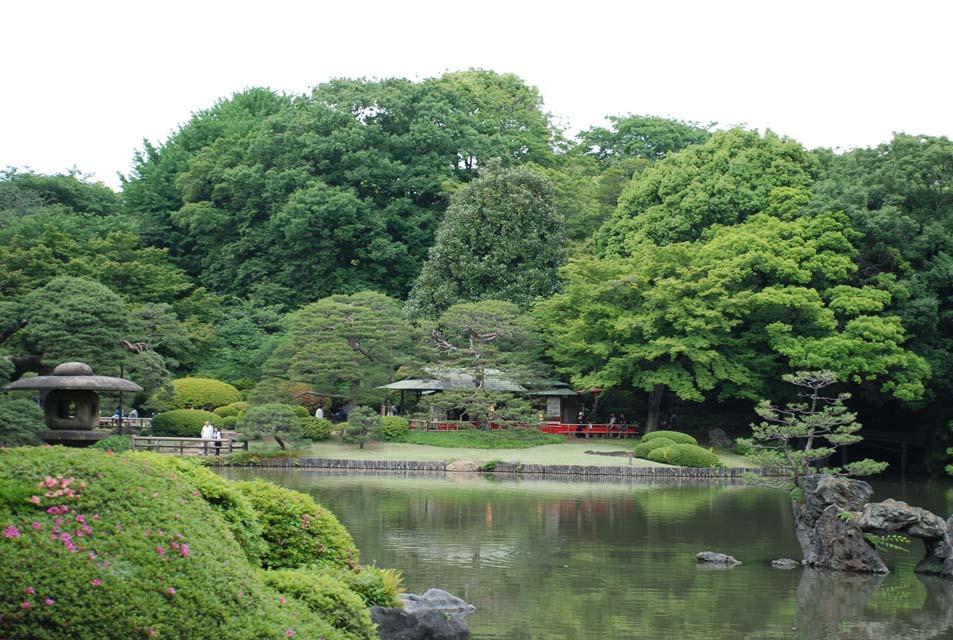 回遊式の大名庭園(江戸の二大庭園の一つ)