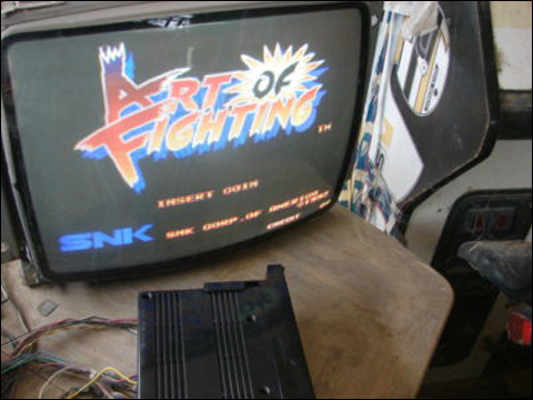 On this old monitor, Art of Fighting still looks fine!