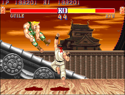 Street Fighter II blasts the competition in 1991.