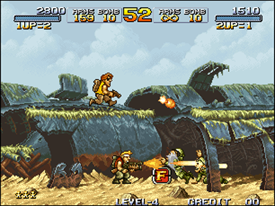 As for  Metal Slug first of the name, it's a legend of videogaming!