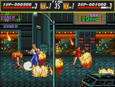 Le génial Streets of Rage de Sega.