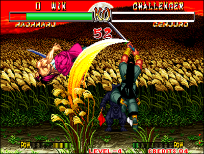 Samuraï Spirits is a major saga on the Neo Geo.