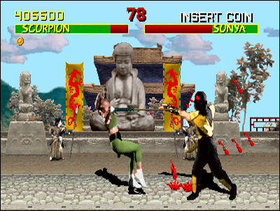 Mortal Kombat introduces ultra-violence in fighting games.