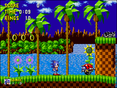 Sonic used to be a tough opponent for Mario... back then.