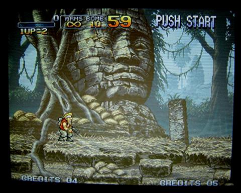Un joli rendu pour ce Metal Slug sur écran cathodique.