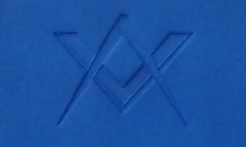 Symbole Equerre et Compas embossé