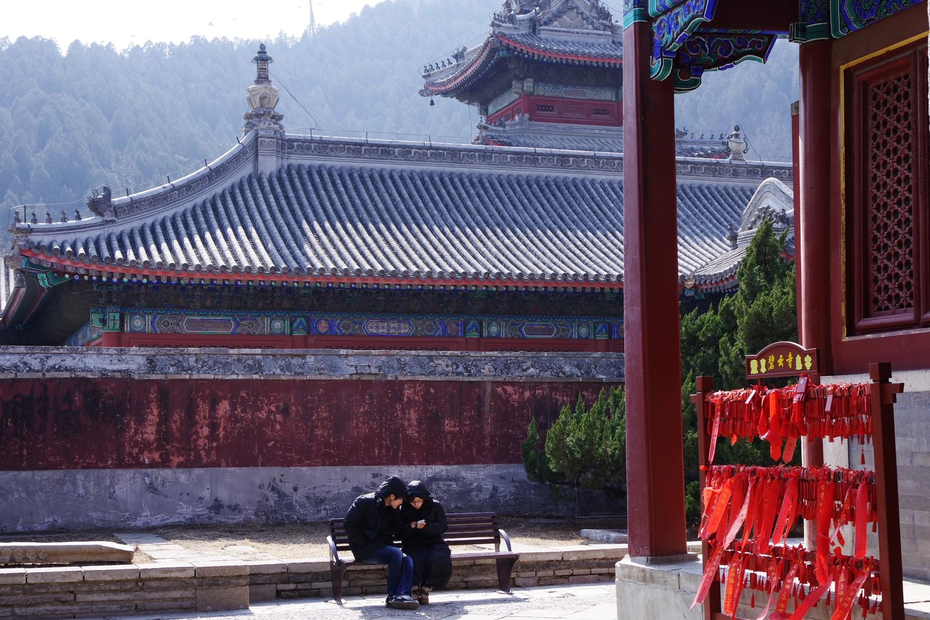 中心軸の南側にある五百羅漢堂
