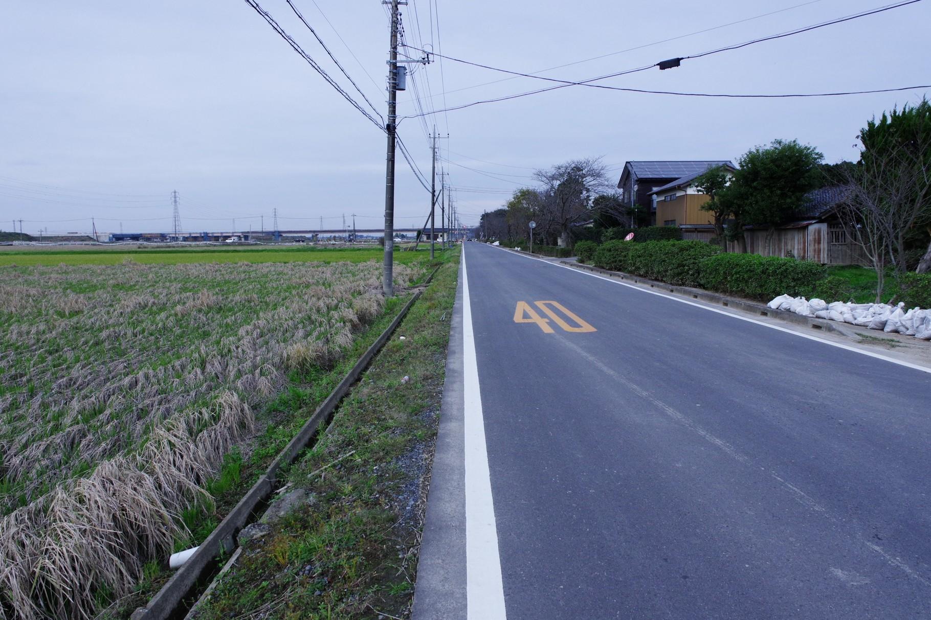沖新田 北北西方向が若宮戸と三坂町