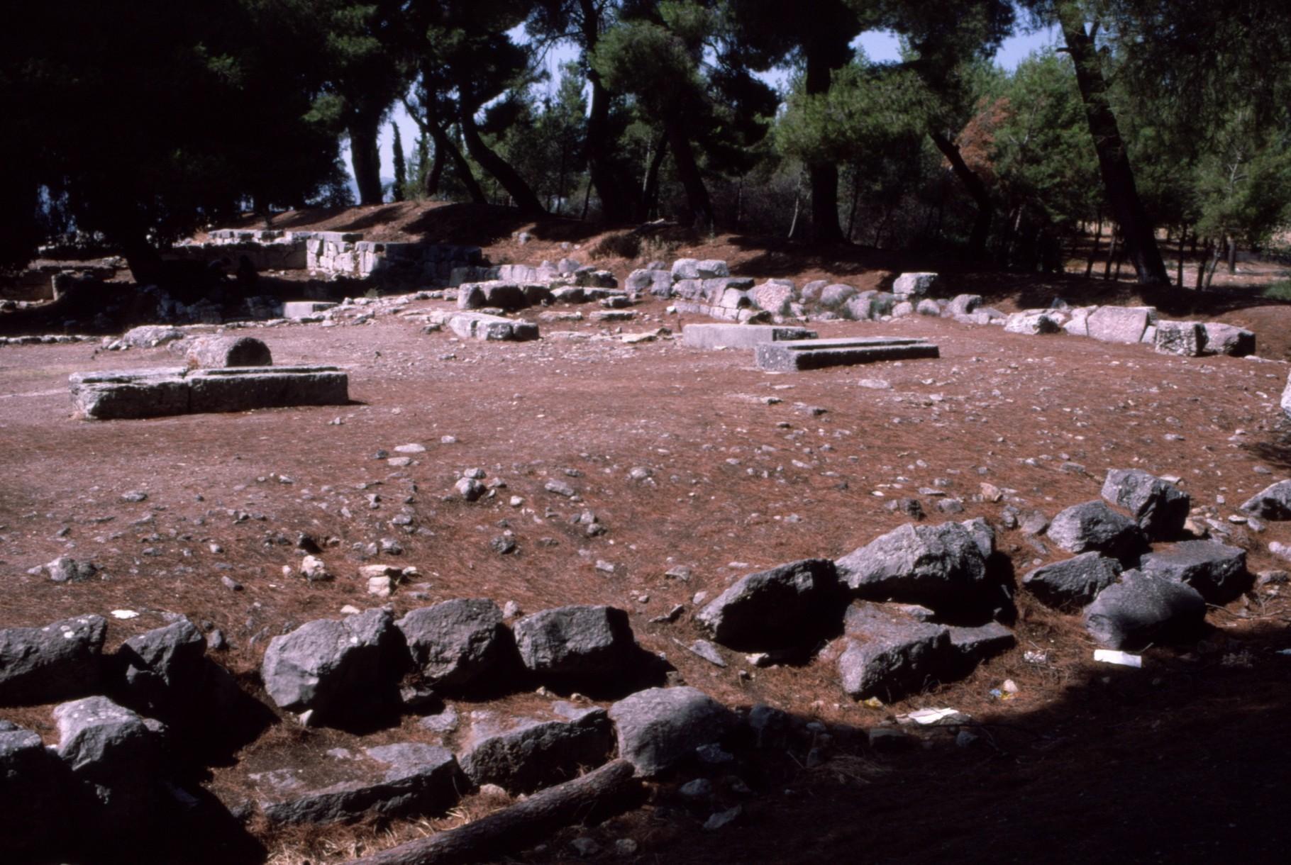 劇場の北西 アウクレピオスの聖域