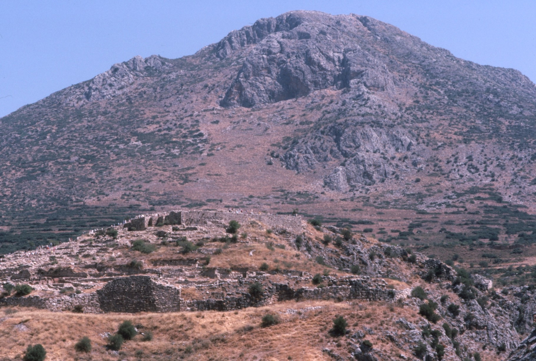ふもとのミケーネ城砦