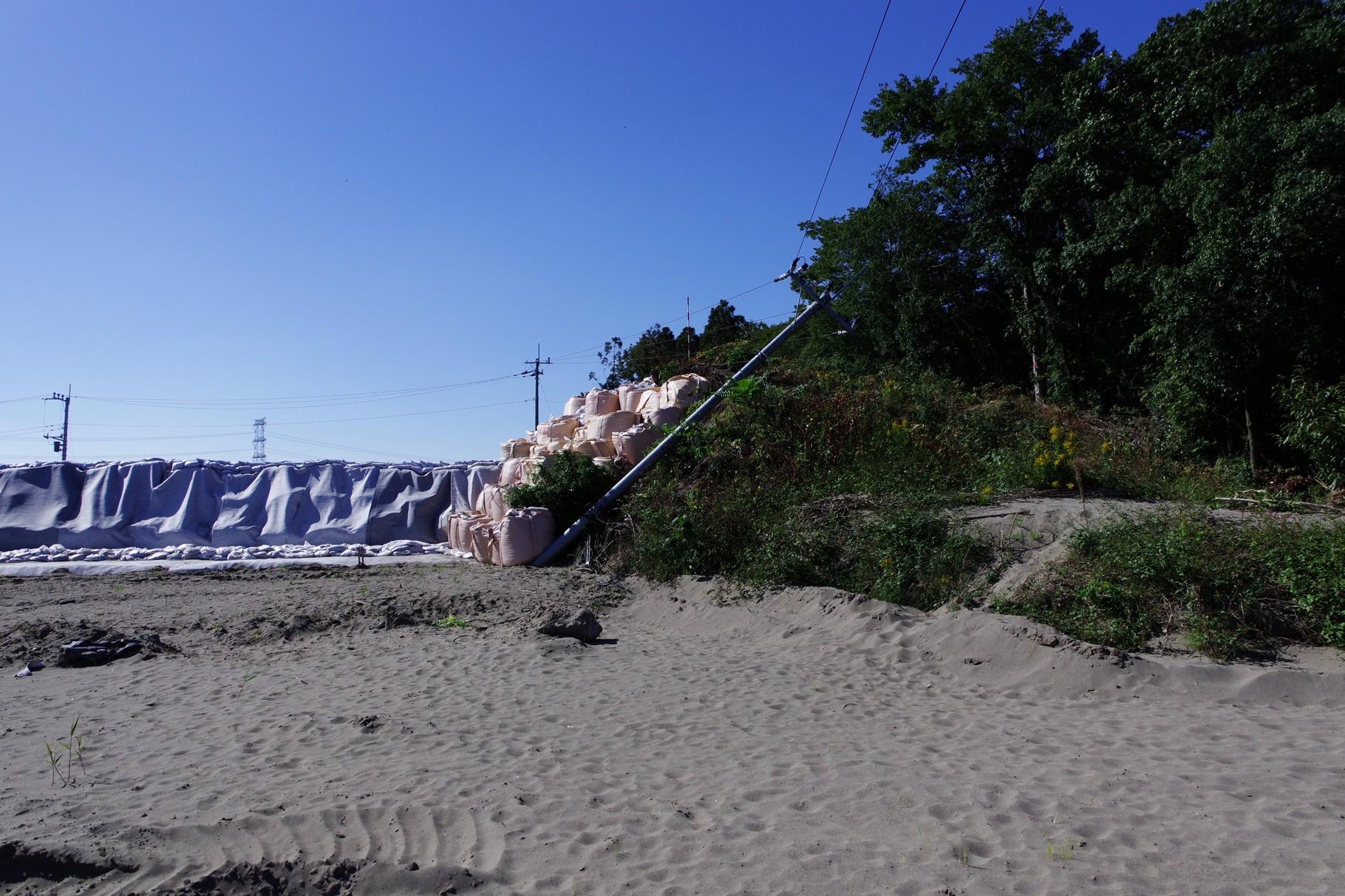 北=上流側の砂丘