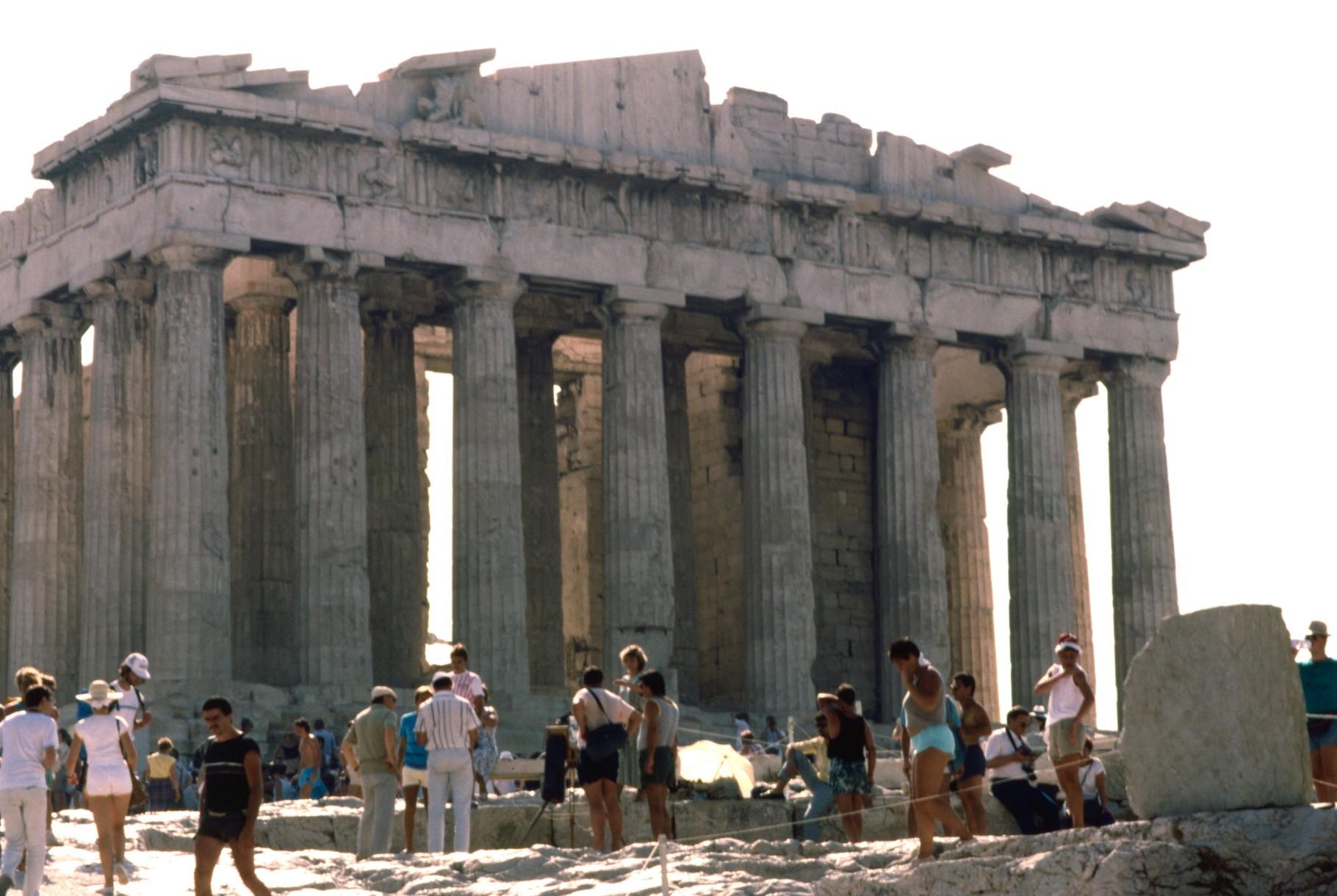 パルテノン神殿西面