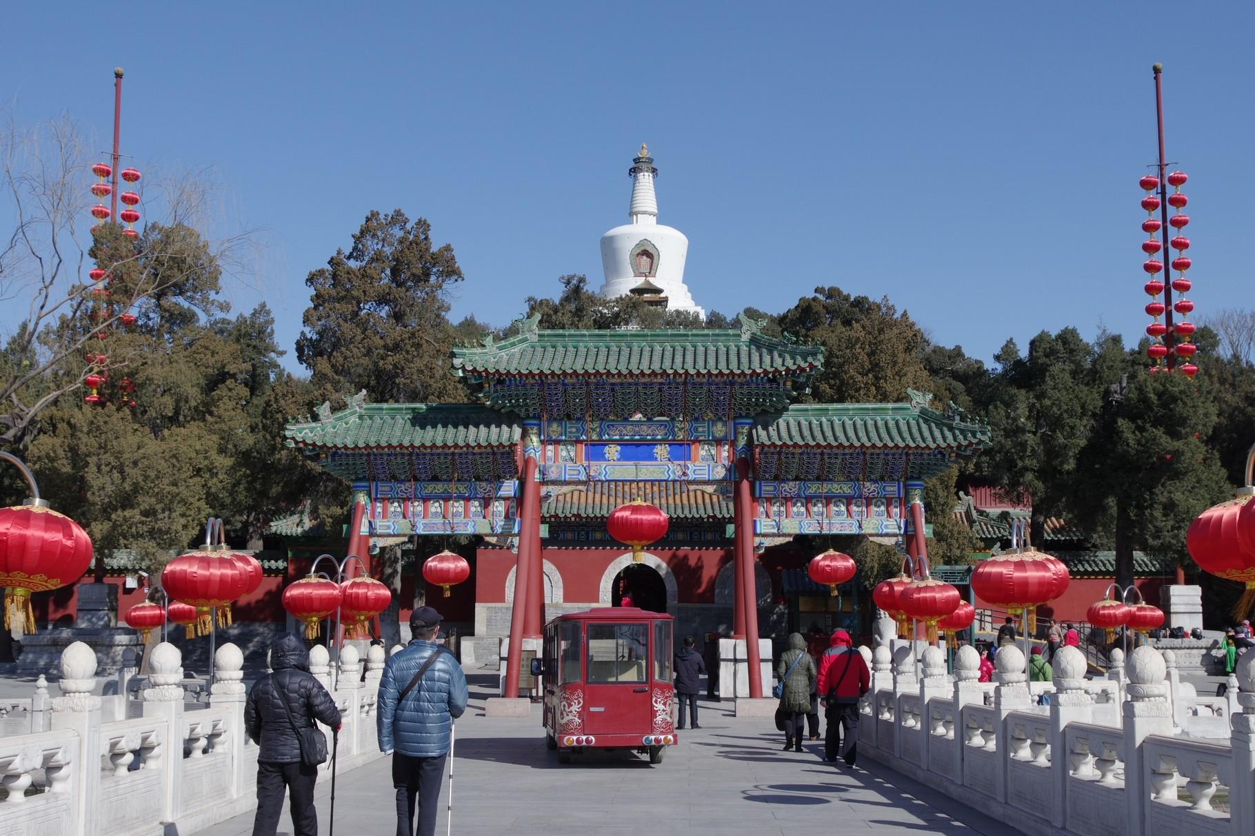 瓊華橋と牌楼